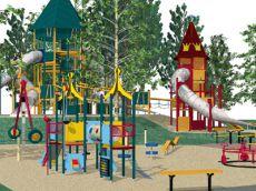 Dětská hřiště a prolézačky v Notudennu