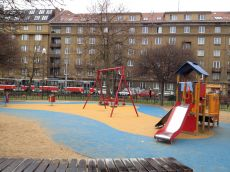 dětské hřiště v Praze 7