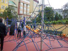 Dětské hřiště ve Františkánské zahradě