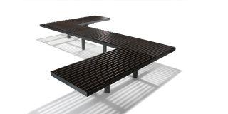 Parková lavička - městský mobiliář Hags